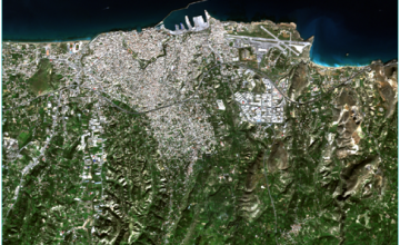 True Color Composite of a Sentinel-2 Scene for a clear day over Heraklion, Greece, on 9/1/2016