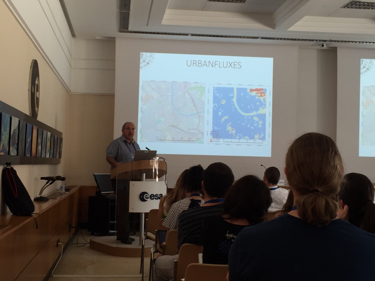 Next generation Earth Observation (EO) scientist were trained at ESA/ESRIN in August 2016. URBANFLUXES was extensively discussed and trainees were very much interested in project's ideas on how