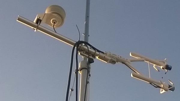 The IRGASON installed on the top of a mast in the center of Heraklion