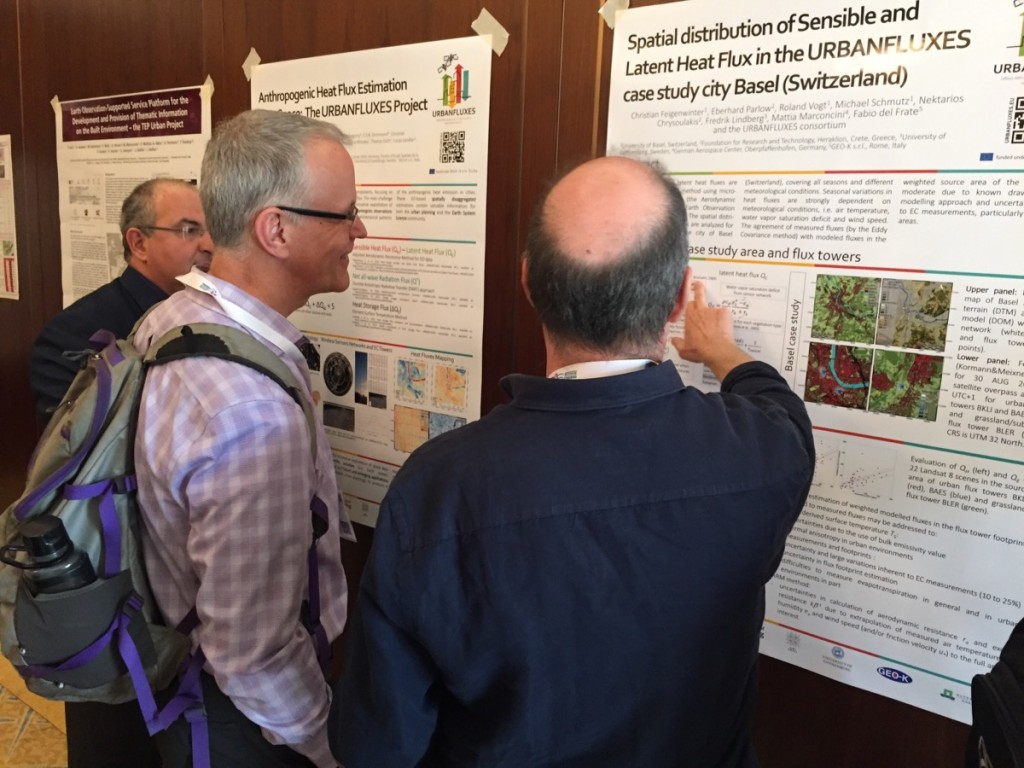 The team had the chance to discuss thoroughly the current findings in the field of urban heat fluxes with many researchers throughout the conference and particularly in the dedicated poster session.