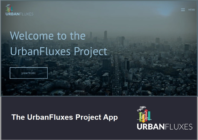 The URBANFLUXES app is now available